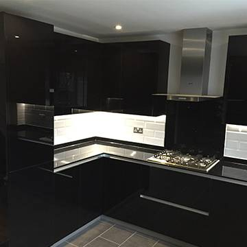 Gloss Black Kitchen